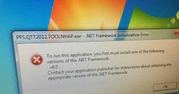 3 bước sửa lỗi To run this application you first must install one of the following versions of the NET Framework